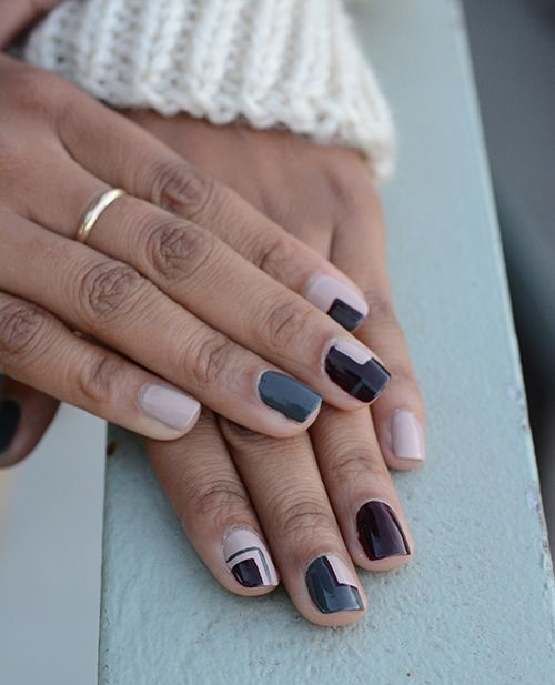 Winter Classics Grey Nails