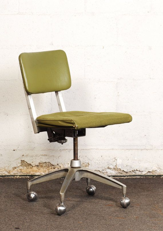 Mid Century Modern Industrial Metal Office Chair