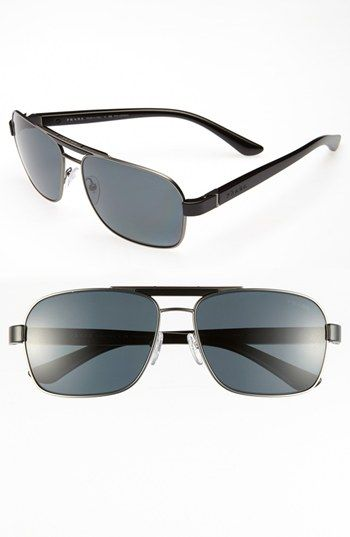 4f08be5fac stylish rayban glasses with discount. Prada 60mm Polarized Retro Sunglasses