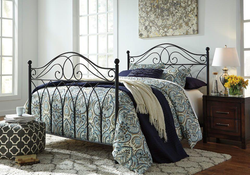 Nashburg Black Queen Metal Bed Queen metal bed, Bed