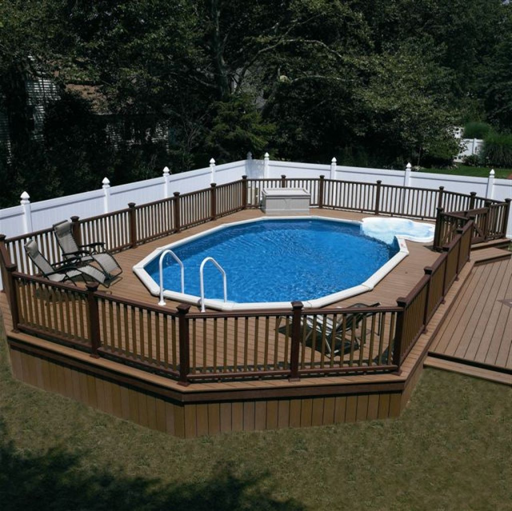 22 Amazing And Unique Above Ground Pool Ideas With Decks Semi