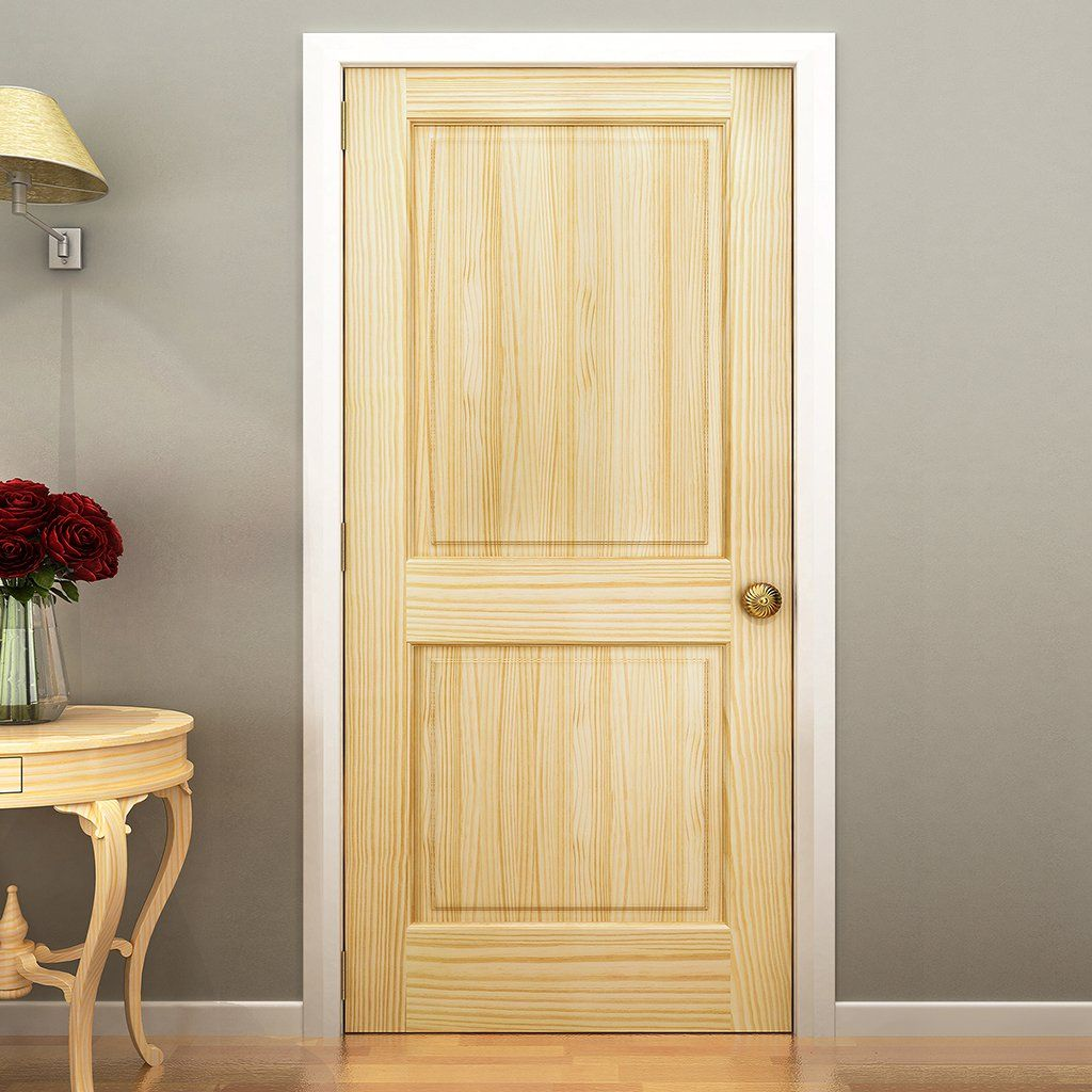 Solid wood core interior door in thick suitable for staining or painting doors are full and square environmentally friendly fsc certified also panel door pine kimberly bay slab colonial rh pinterest