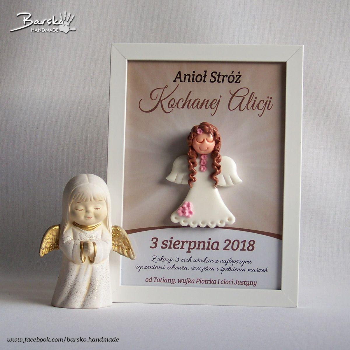 Pamiatki Urodzinowe Aniol Aniolek Urodziny Roczek Handmade Rekodzielo Handmadeangels Aniolstroz Pre W 2019 Ramki Urodziny I Anioly