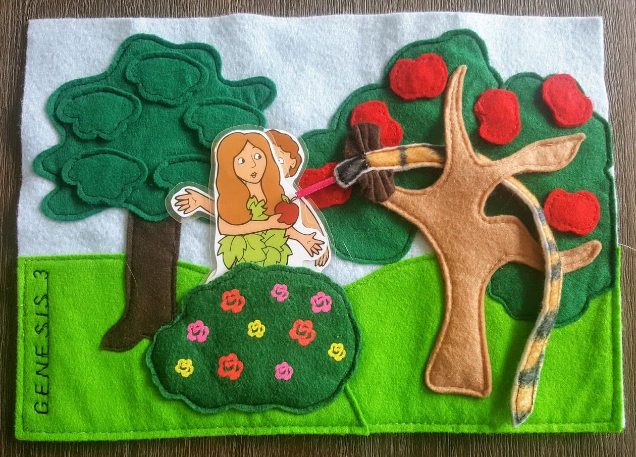 Faith and Felt Obsession: Genesis 3 - The Fall of Adam and Eve Quiet Book Pa...