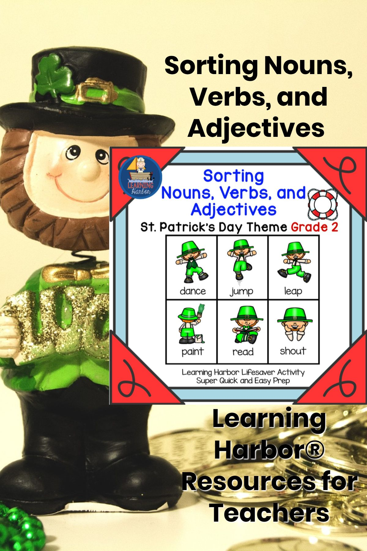 Sorting Nouns Verbs And Adjectives St Patrick S Day