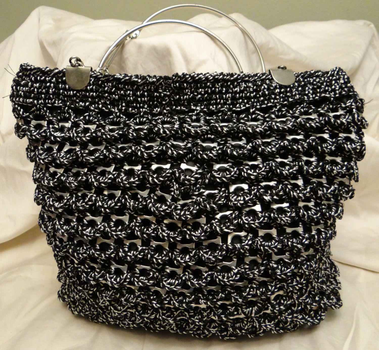 c617d2aebd7b8 Soda Can Tab Crochet Bag Purse.  90.00