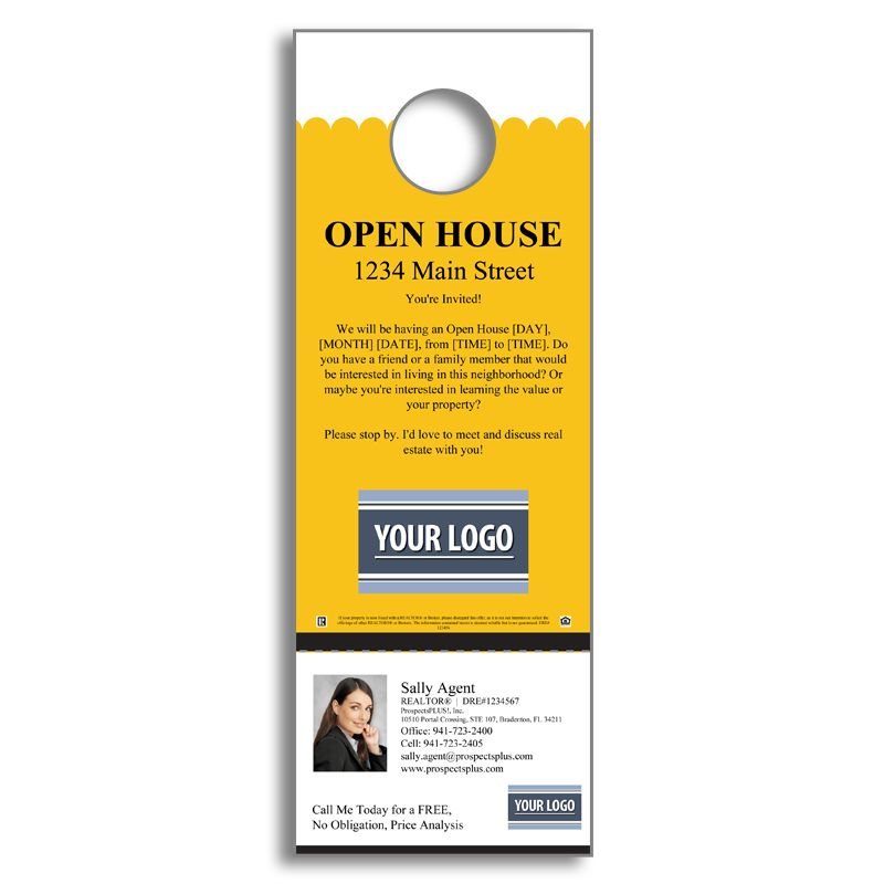 Real Estate Open House  Door Hanger  Agent Marketing Strategies