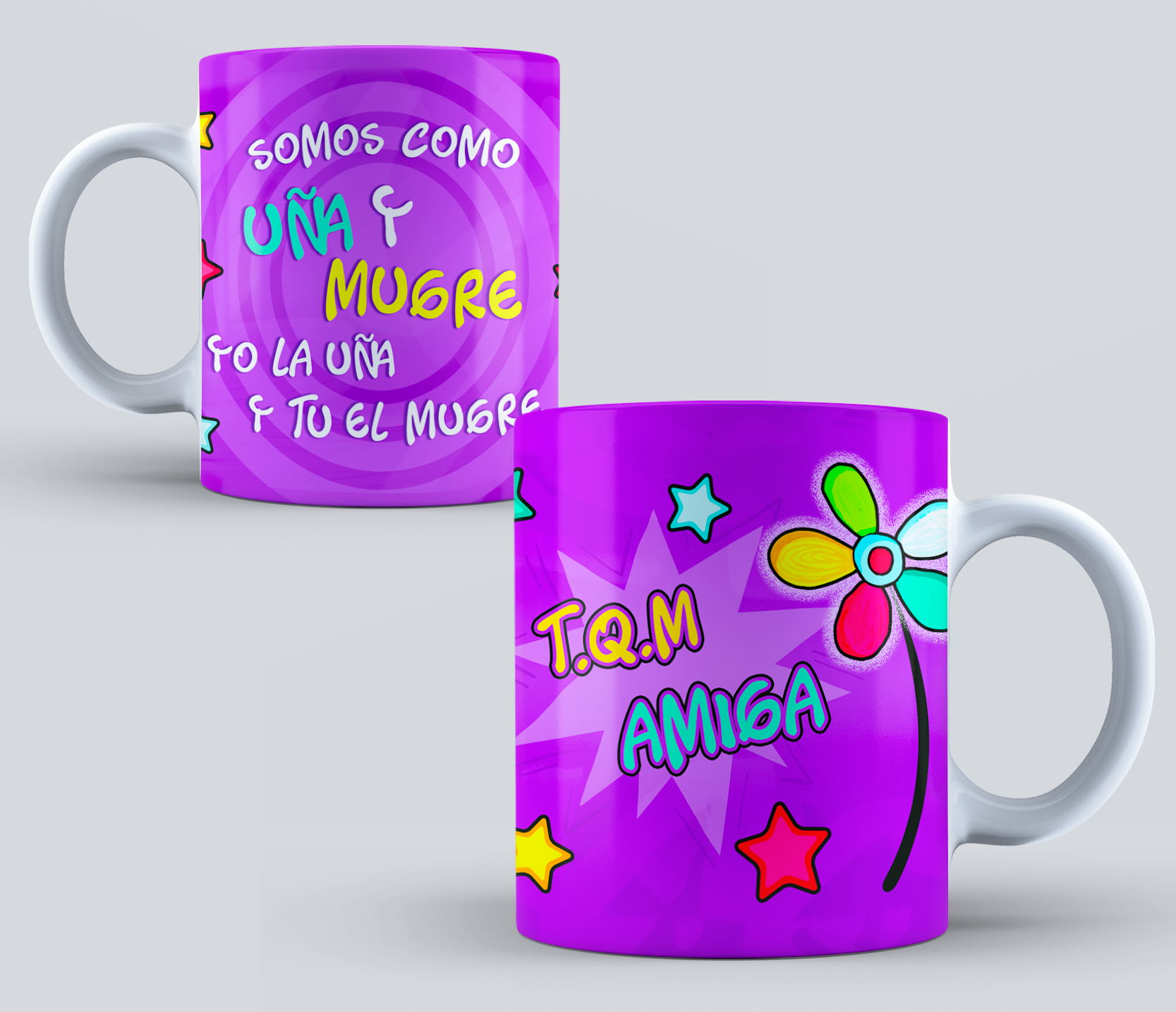 Templates amistad para sublimar mugs version 3 dise os for Disenos para tazas
