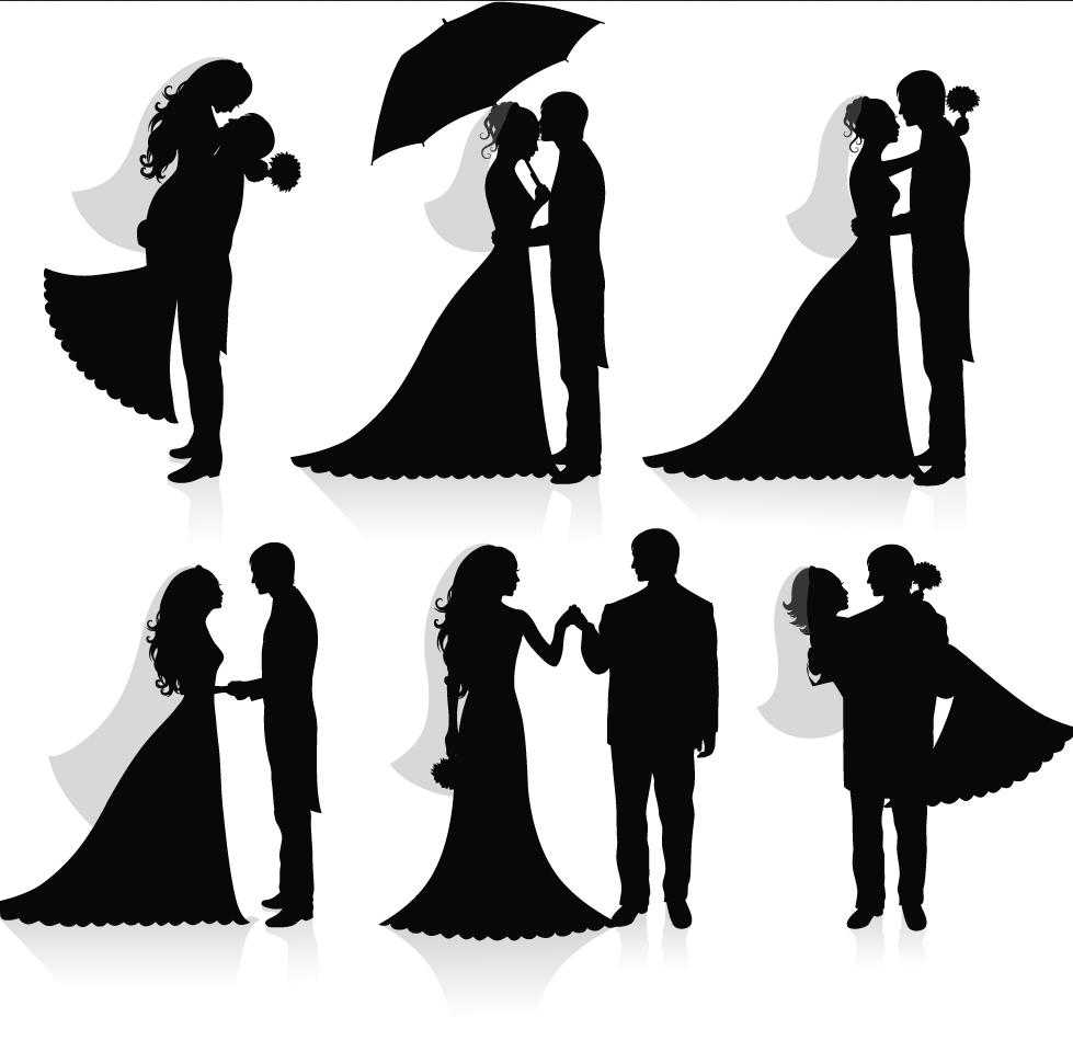 I want a silhouette cake topper cute wedding cake
