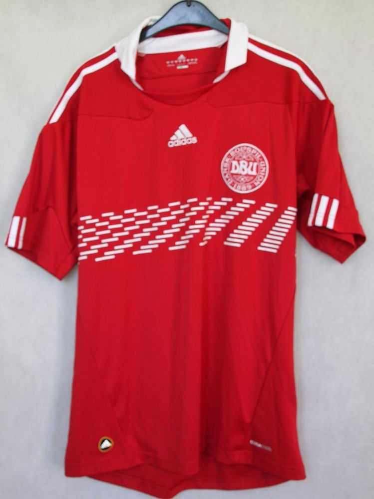 DENMARK DBU NATIONAL 2010 ADIDAS FOOTBALL JERSEY SHIRT TOP sz M MAGLIA  TRIKOT… 9b60df608