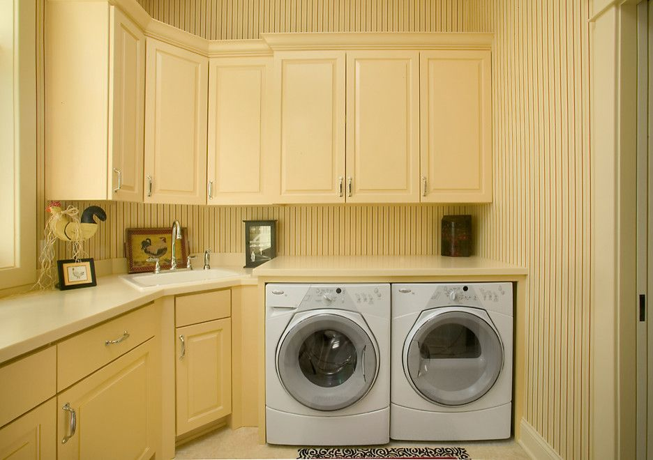 Corner Utility Sink Laundry Room Traditional With None
