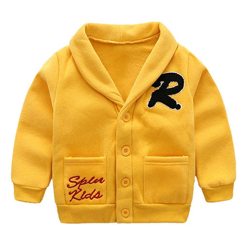 240ca6139372 Mud Kingdom Boys  Lapel Dress Coat Fleece 5T Yellow. Napped Fabric ...
