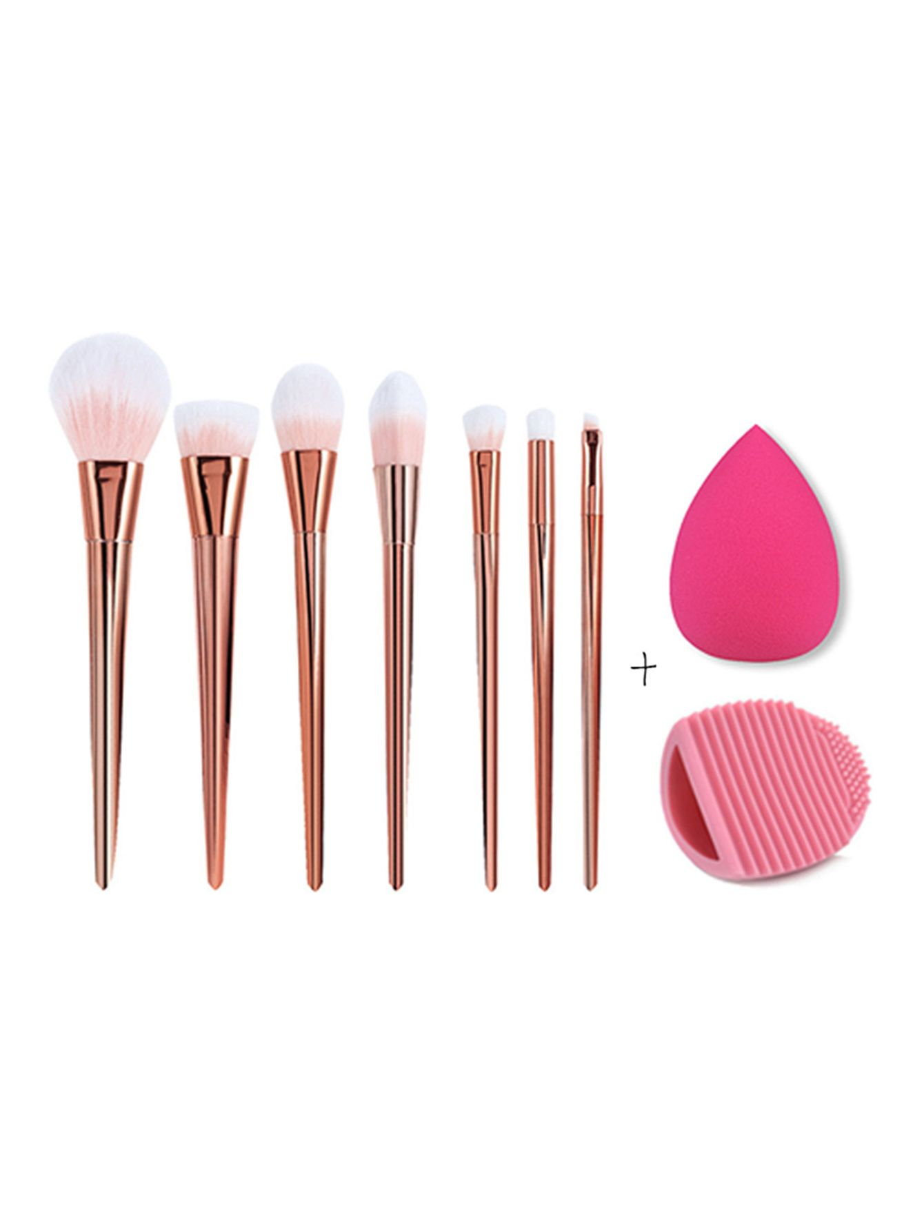 976c8fdf7e Shop Makeup Brush Set With Puff online. SheIn offers Makeup Brush Set With  Puff & more to fit your fashionable needs.
