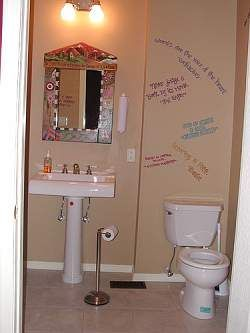 Ordinaire Let Your Teenagers Have A Bit Of Fun With Their Bathroom Design. You Can  Always Repaint The Walls Later!