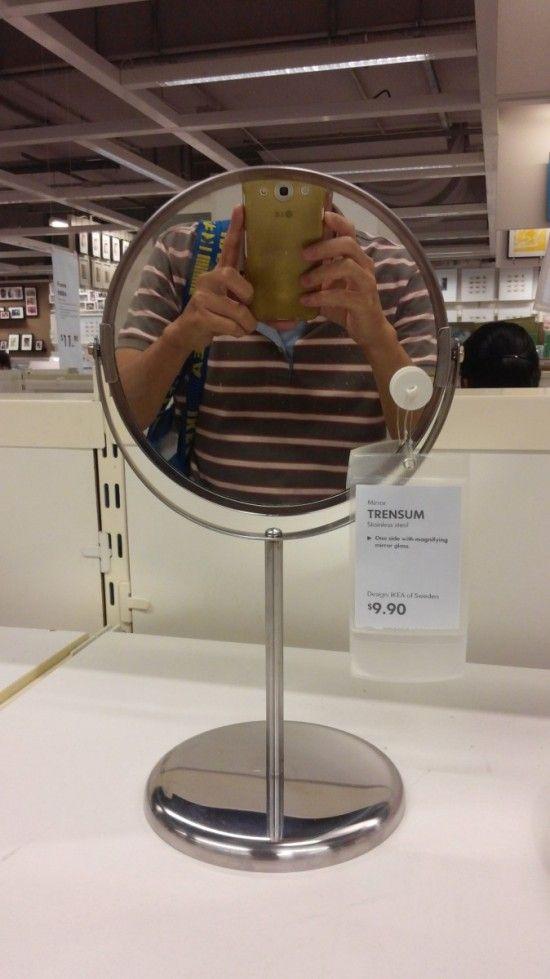 Automatic Solar Powered Edge Lighted Vanity Mirror