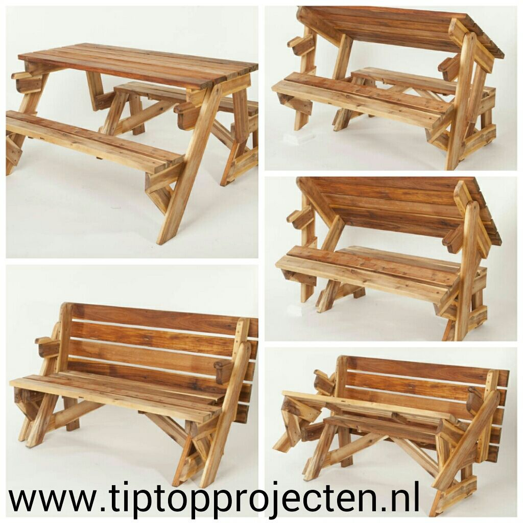 Foldable Table/bench 2in1! | Foldable Picnic Table, Diy Wood Projects Furniture, Folding Picnic Table