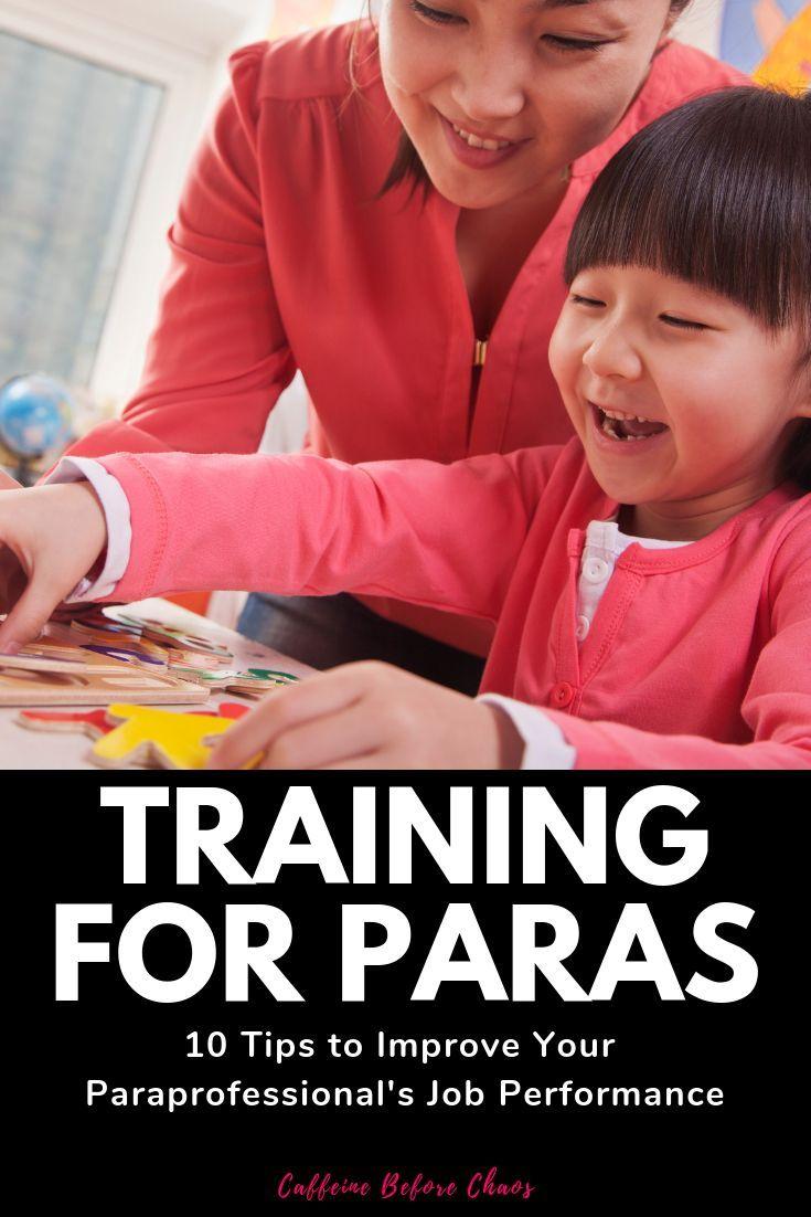 Paraprofessional training powerpoint handouts