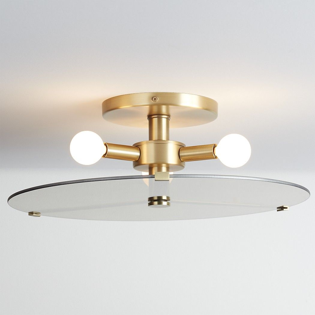 Shop Moon Round Flush Mount Light Circular Mirrored Glass Hovers