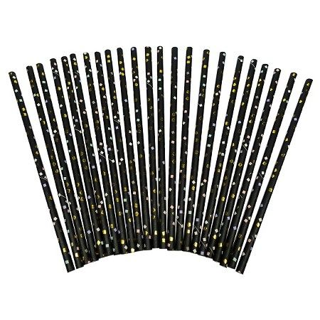 New Year's Eve 40ct Straws - Spritz™ : Target