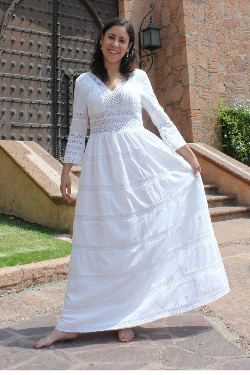 2bf7e786bc1b7 Womens Mexican Dress Huipil Wedding | Wedding | Mexican dresses ...