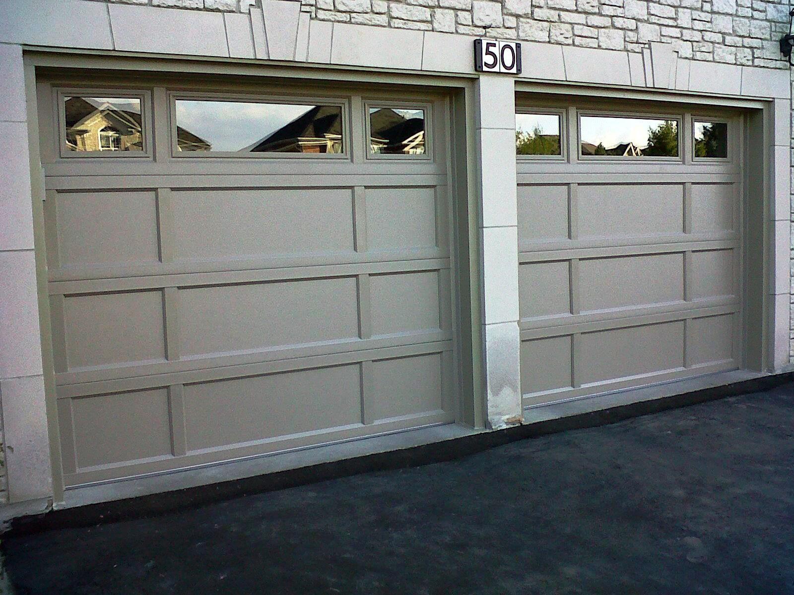 1200 #7B7450 Overhead Doors Model 2296 Steel Combo Recessed Panel Garage Doors  save image Steel Overhead Doors 38071600