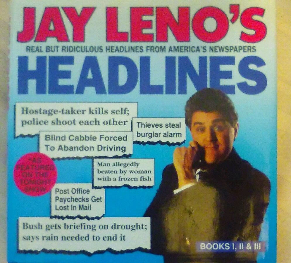 Jay Leno's Headlines by Jay Leno (1992, Hardcover) in Books, Children & Young Adults | eBay
