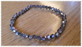 Silvia Jewellery of Style: Bracciale elastico biconi argentati