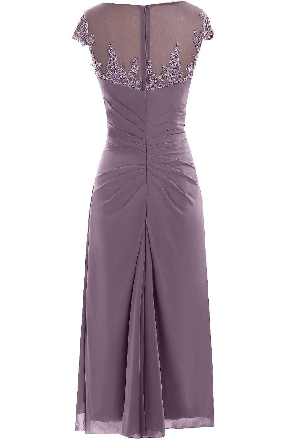Qy Bride Woman S Chiffon Wedding Guest Formal Dresses With