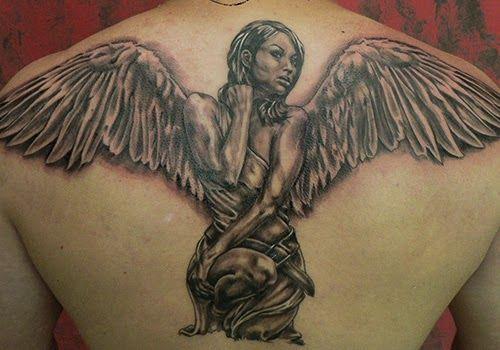 75 Tatuajes De Angeles De La Guarda Y Su Significado Angel Back Tattoo Angel Tattoo Back Tattoo