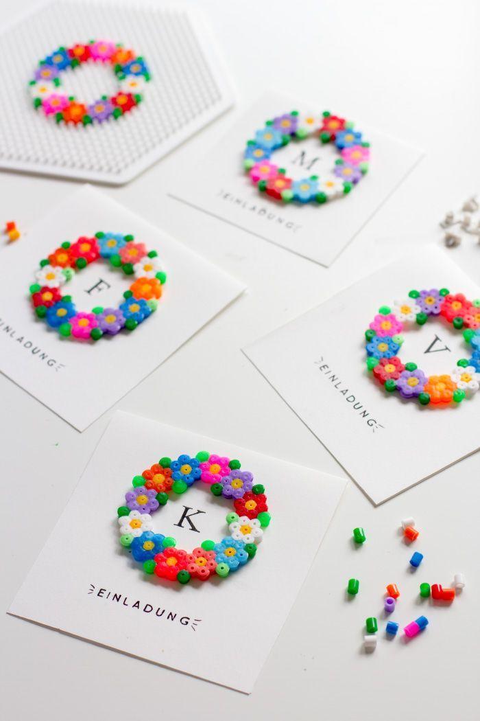 Einladungskarten mit Bügelperlen #beads