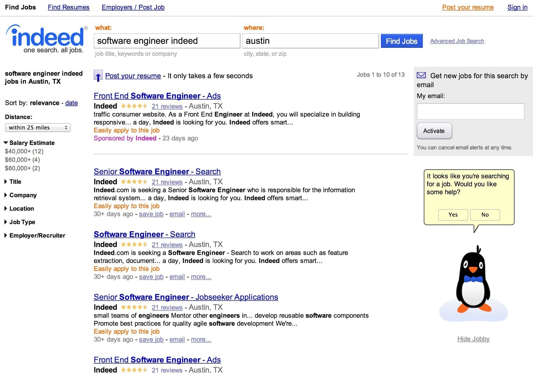 Indeed Data Scraping Extract Job Site and Resume