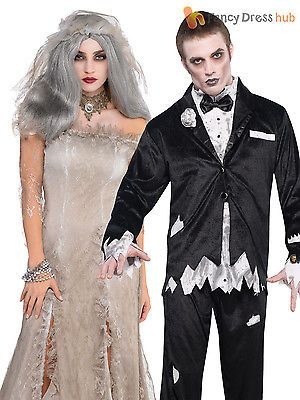 b0654ede0935  Ladies mens corpse bride zombie groom halloween  fancy  dress costume  couples