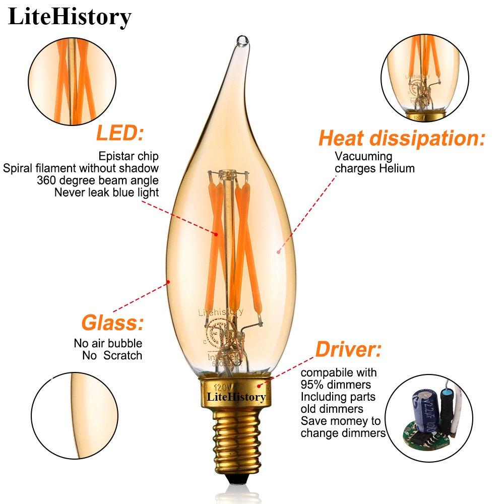 3mode E12 Led Flame Bulb Candelabra Fire Light Bulb 3w Flickering