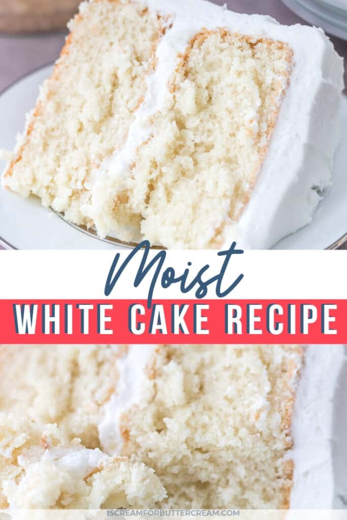 Moist White Cake Recipe Homemade cake recipes, Almond