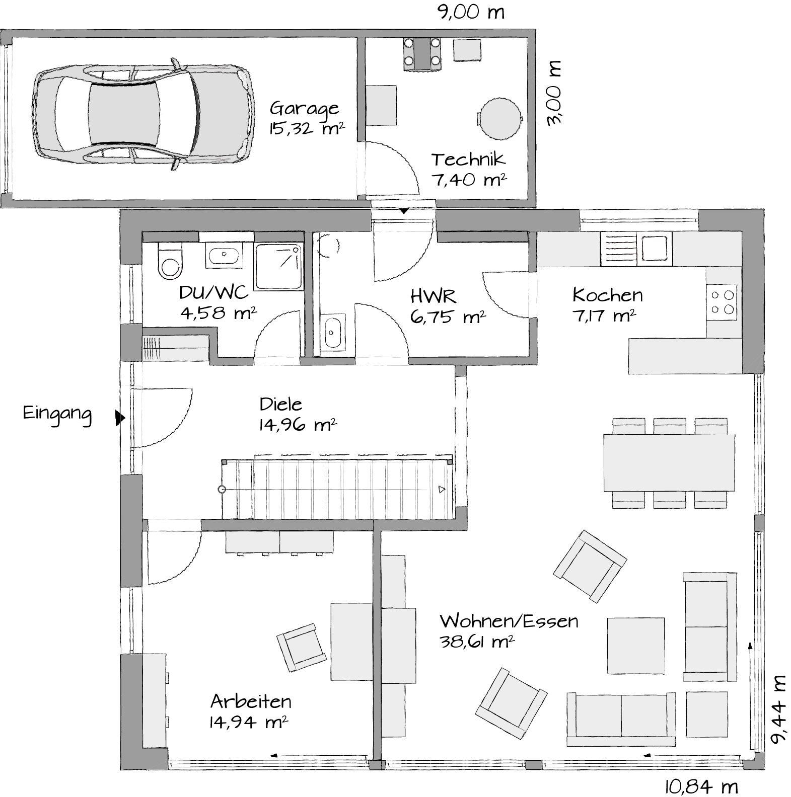 Satteldachhaus Lanos 2 1730 Haus Grundriss Hausbau Grundriss Doppelhaus Grundriss