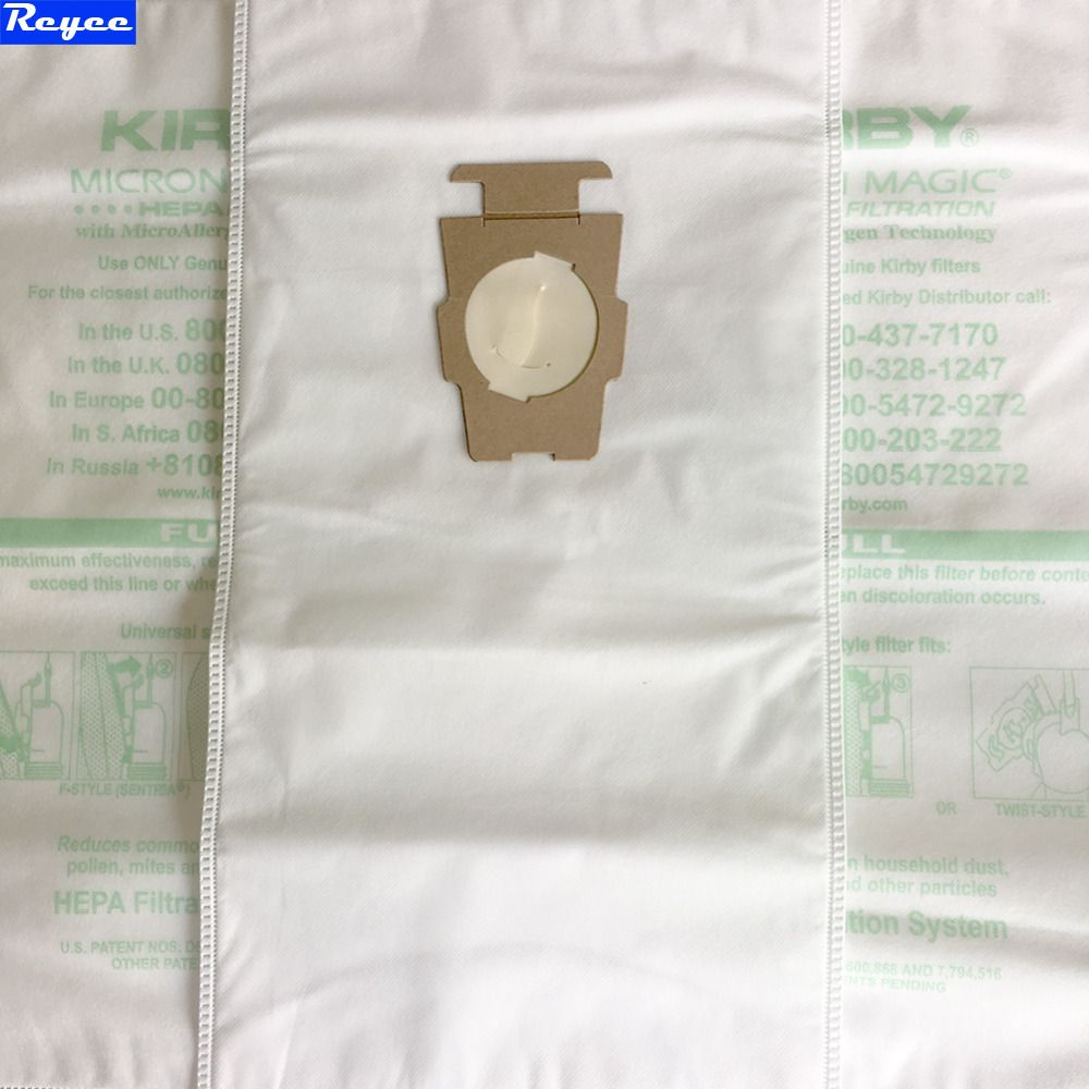 Kirby Vacuum Bags 6 Sentria Universal F Style Micron Magic Hepa White Cloth With