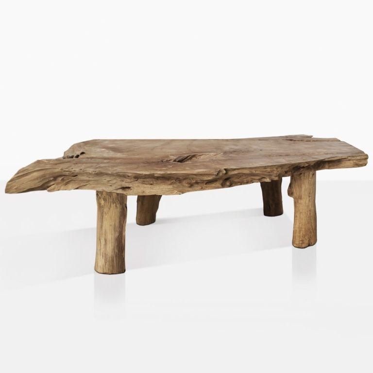 River Teak Root Coffee Table Organic Coffee Table Natural Wood Coffee Table Raw Wood Coffee Table