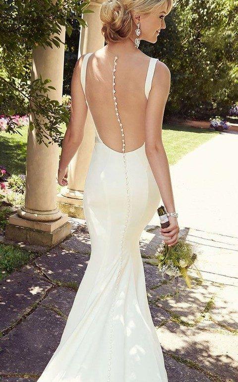 39 Button Back Wedding Dresses That Impress | #1 bridal gowns ...