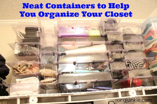 Neat Containers For Your Closet ~ Day #11