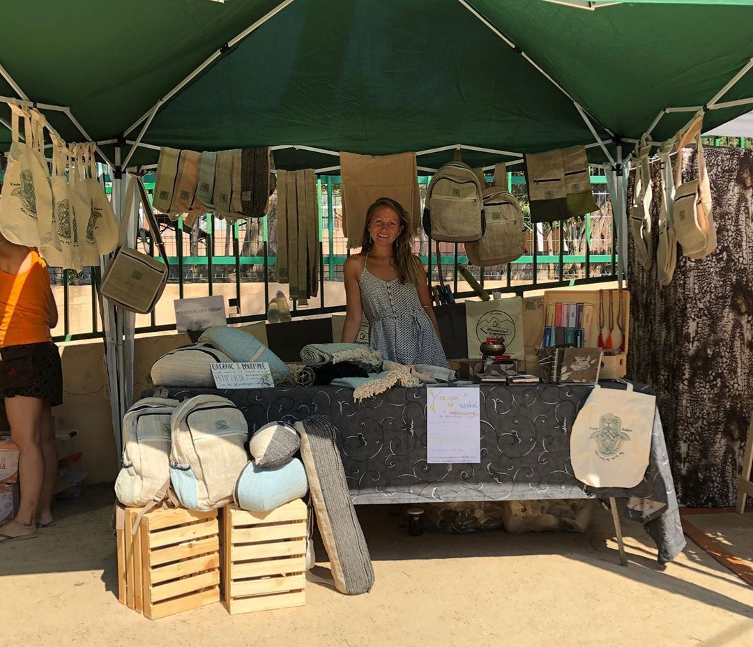 "Photo of Wanderlust Yoga on Instagram: ""Wanderlust YOGA is at @barcelonayogaconference come and join us ❤️❤️ #wanderlust_yoga #sustainable #hemplove #hemp #yogaproducts…"" – Insta"