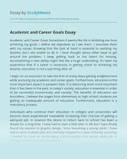 Essay Example Goal Online Writer Easy Future