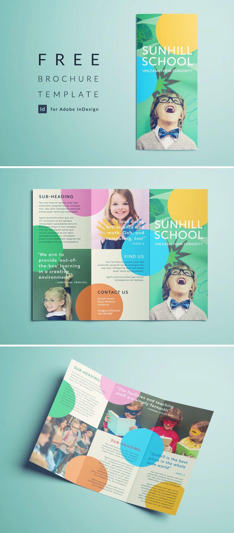 Colorful School Brochure - Tri Fold Template | Freebies - Templates ...