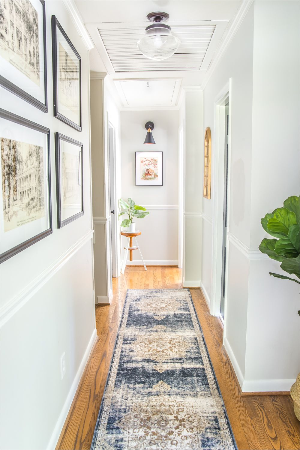 6 Tips To Decorate A Boring Hallway Narrow Hallway Decorating Upstairs Hallway Hallway Decorating