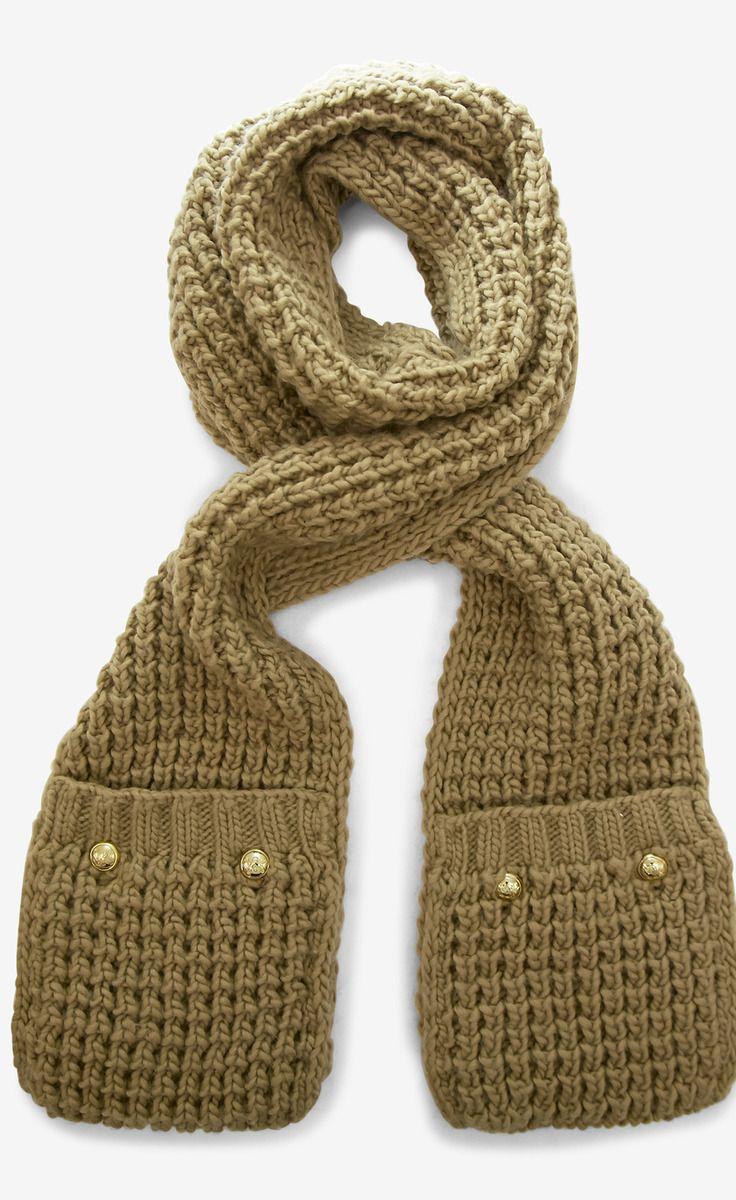 K.N.I.T pocket scarf   creating sort of life   Pinterest   Scarves ...