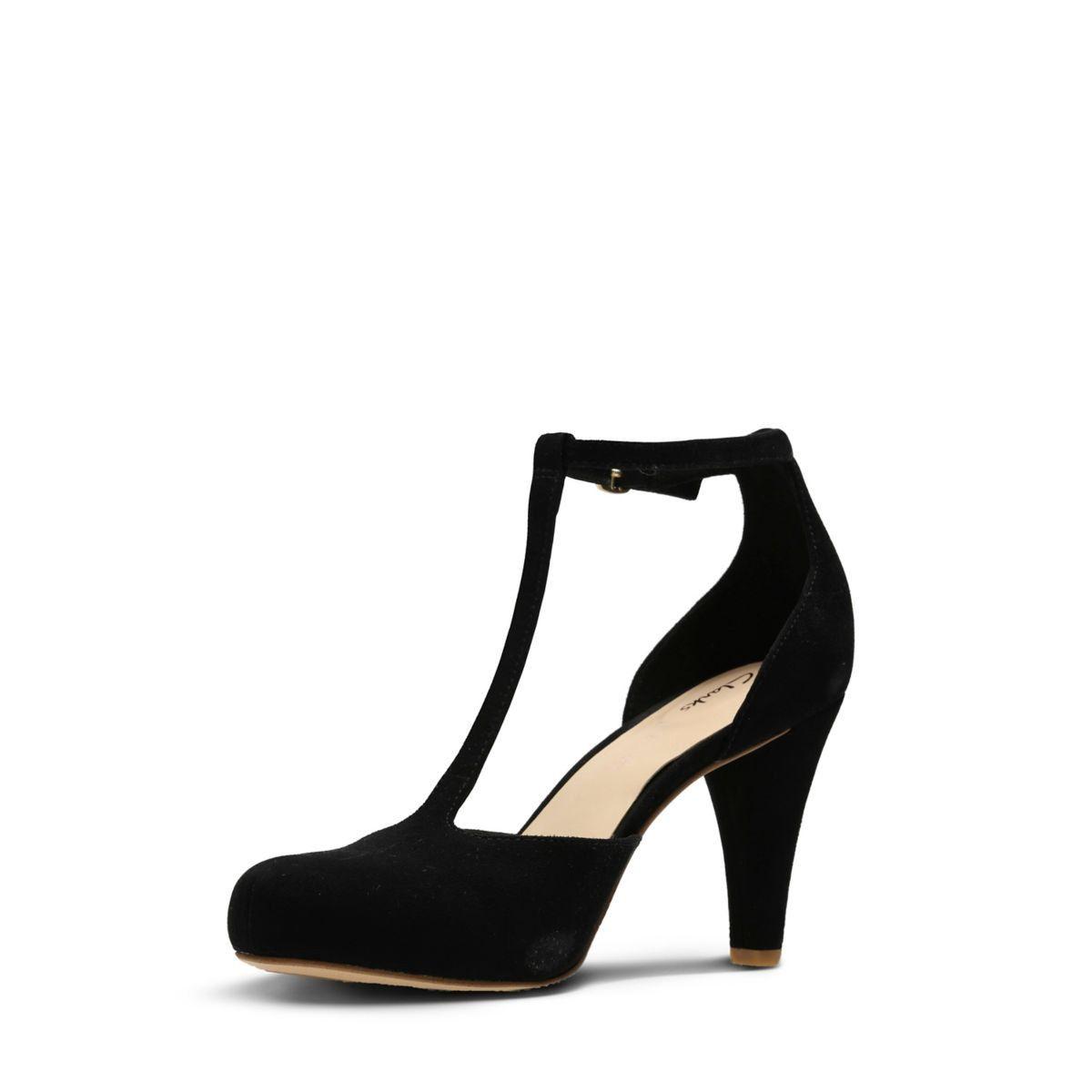 e6002f84ca1f Clarks Dalia Tulip - Womens Shoes Black Suede 7.5 D (Medium ...