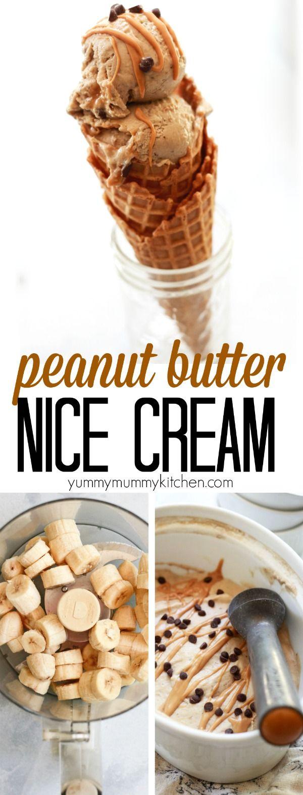 Peanut Butter Banana Nice Cream - Yummy Mummy Kitchen