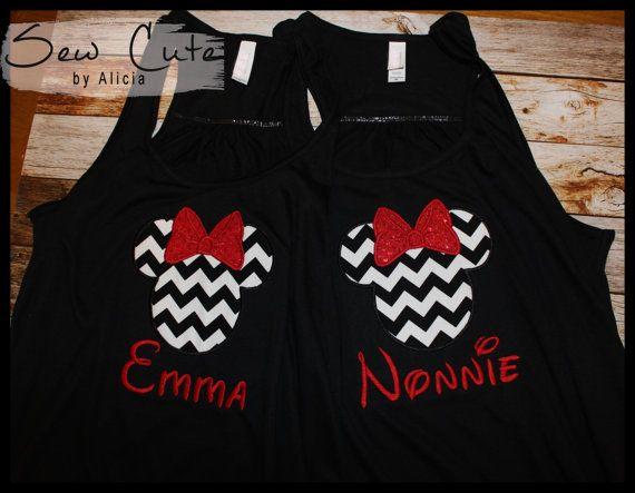 Minnie Shirts  Bella Ladies Flowy Racerback by SewCutebyAlicia