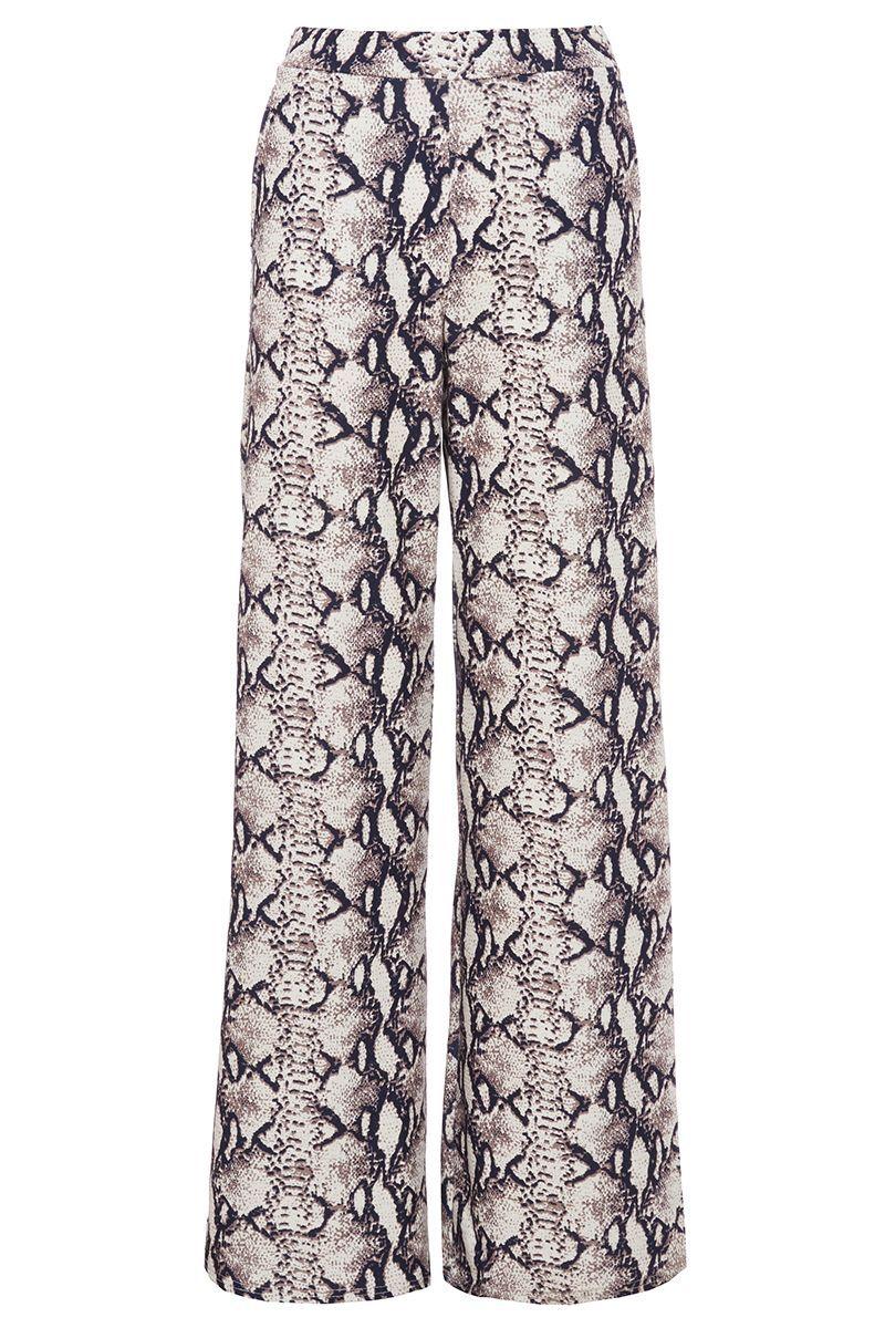 7b04f3cf0a5 Pantalones Palazzo con Estampado de Serpiente - Quiz Clothing ...