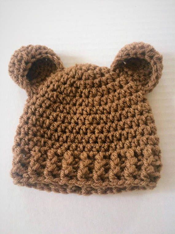 Teddy Bear Hat Crochet Newborn Hat Gender Neutral Gift Crochet