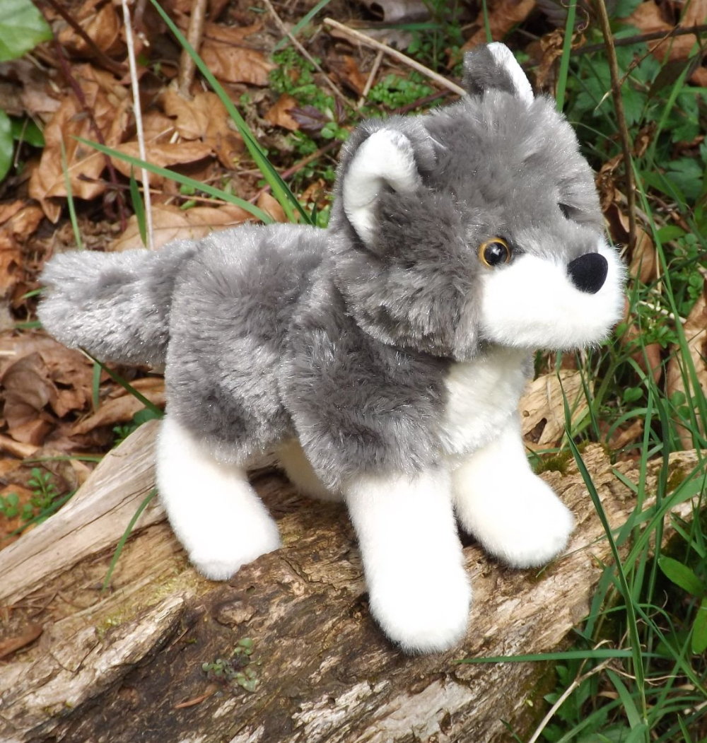 """Wolf Plush Toy 8"""" 'Ashes' Plush Wolf This Place is a"""